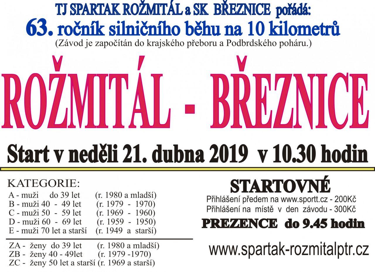 Běh Rožmitál - Březnice