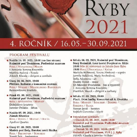Celkový program 4. ročníku Festivalu J. J. Ryby